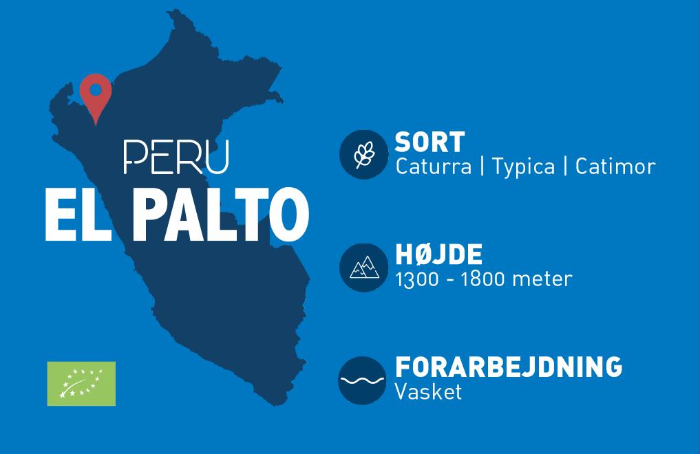 Peru El Palto er en lækker økologisk kaffe, der serveres på mange cafeer og kaffebare.